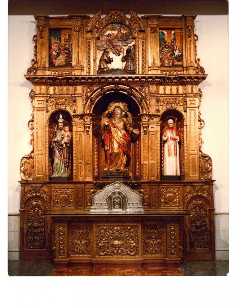 Retablo del oratorio Nuestra Señora de la Paz